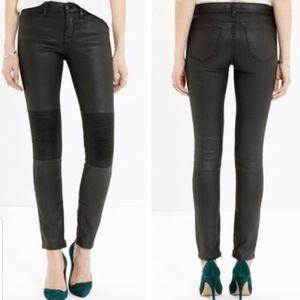 Madewell Skinny Skinny Moto Ankle Zip Jeans